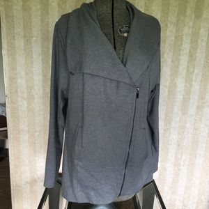 Lane Bryant Asymmetrical Zip Front Jacket